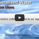 video of common uses demineralised water