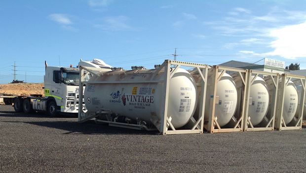 row of iso tanks for hire
