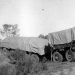 AEC government road train on first trip to Alice Springs in 1934
