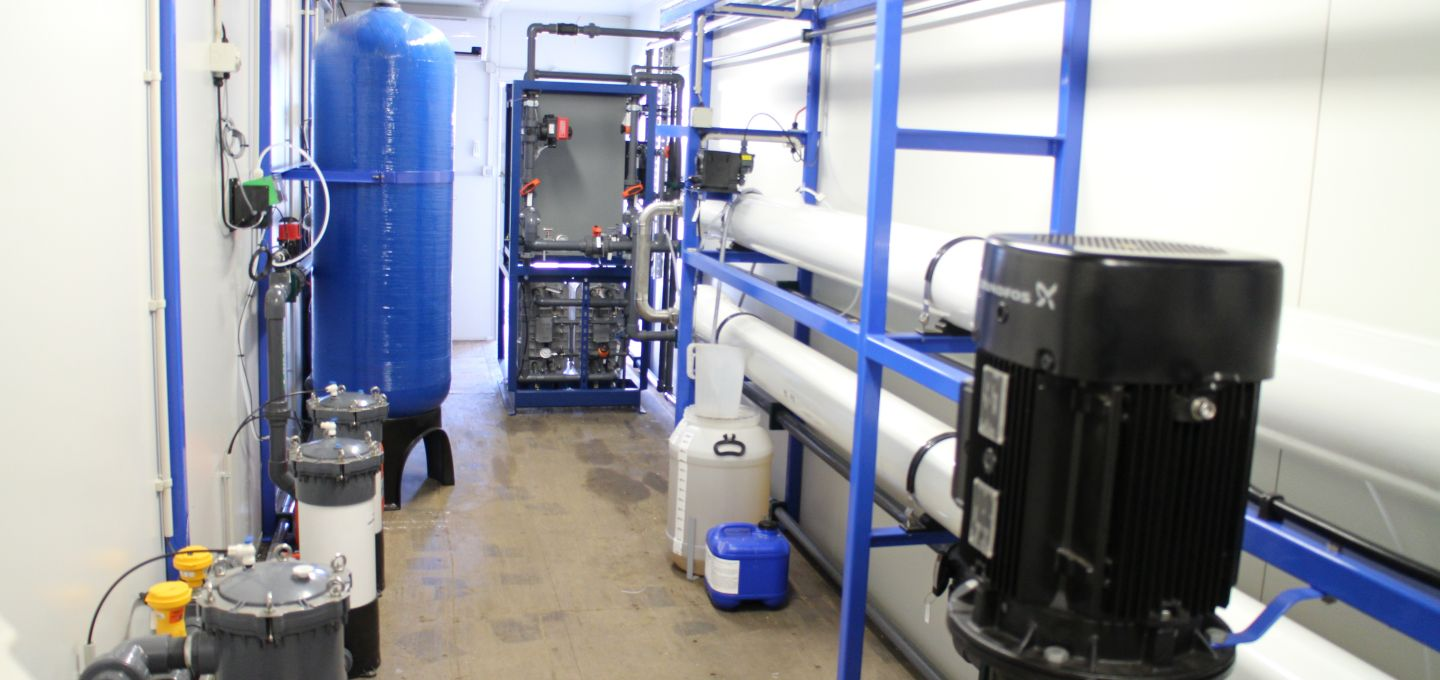 production of demineralised water