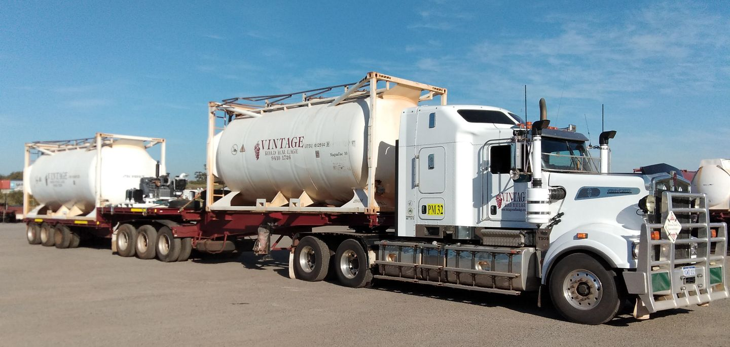 transporting chemicals in western australia