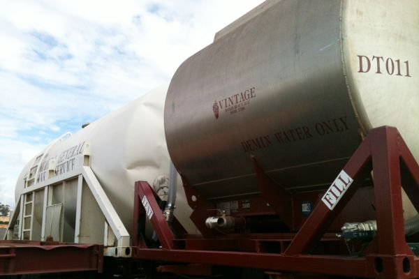 demineralised water tanker perth